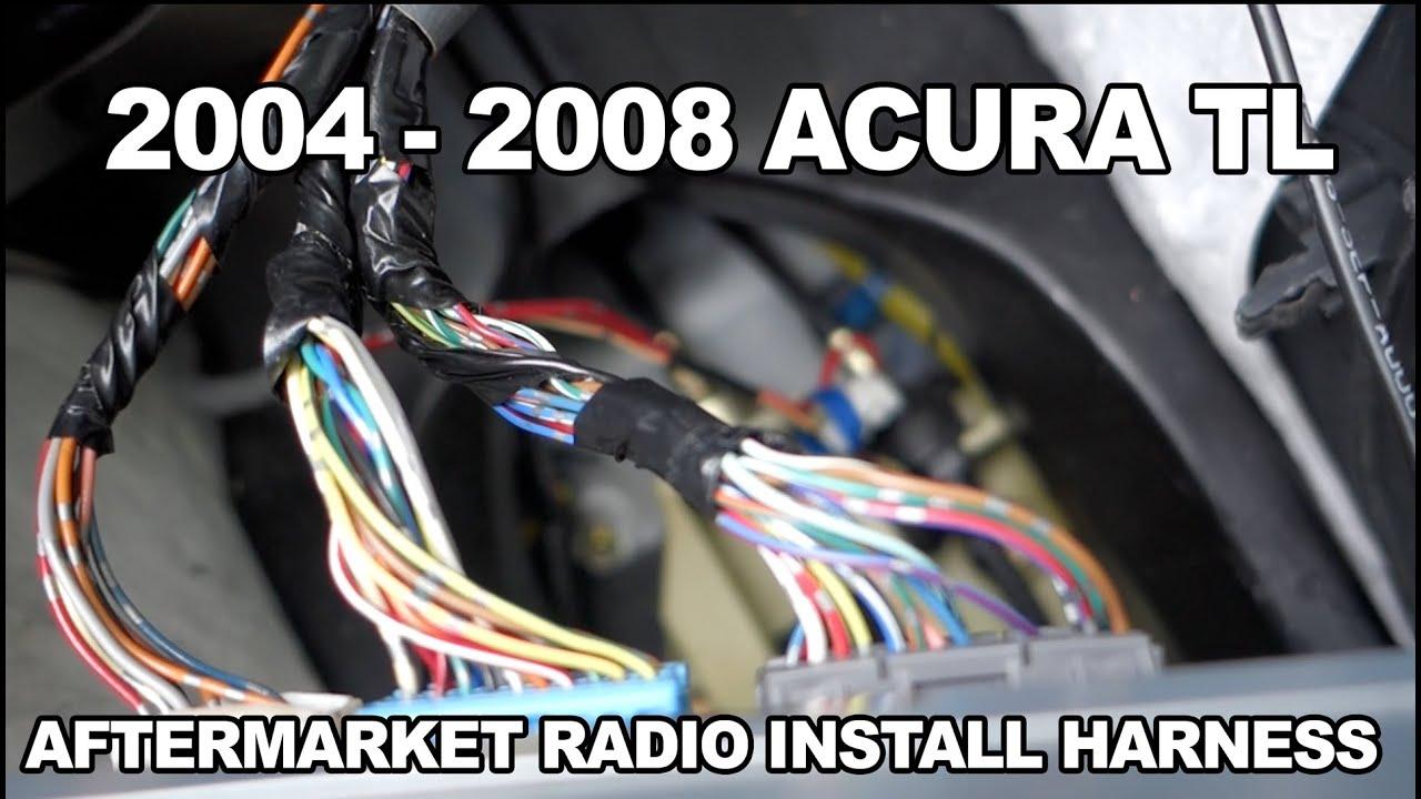 medium resolution of 2004 to 2008 acura tl aftermarket radio harness