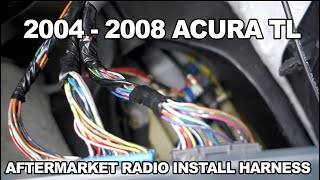 2004 05 06 07 2008 Acura Tl Aftermarket Radio Stereo Harness Youtube