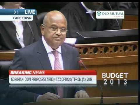 SA Budget Speech: Low carbon economy
