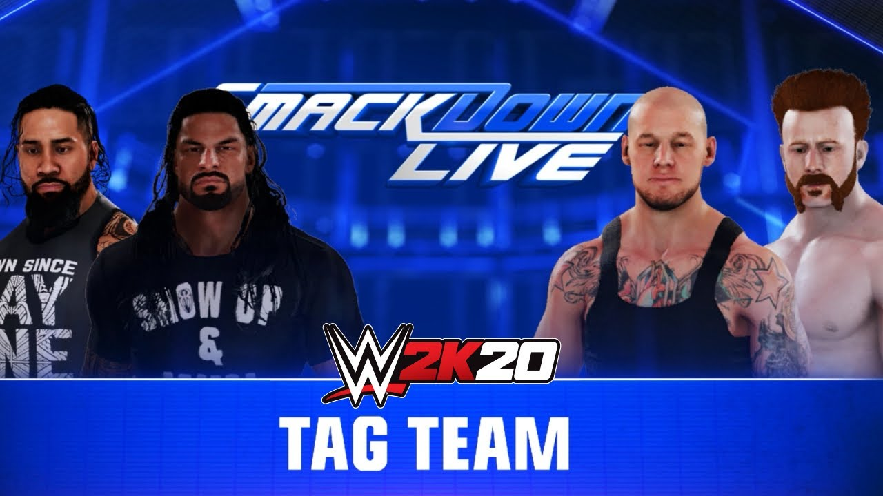 WWE 2K20 Roman Reigns & Jey Uso Vs Corbin & Sheamus GAMEPLAY ! WWE 2K20 GAMEPLAY |