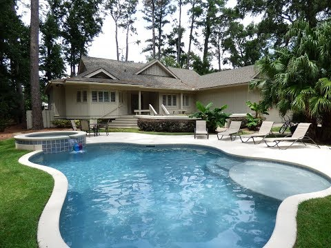 Sea Pines Home For Sale Near The Beach With Private Swimming Pool and Golf Course View