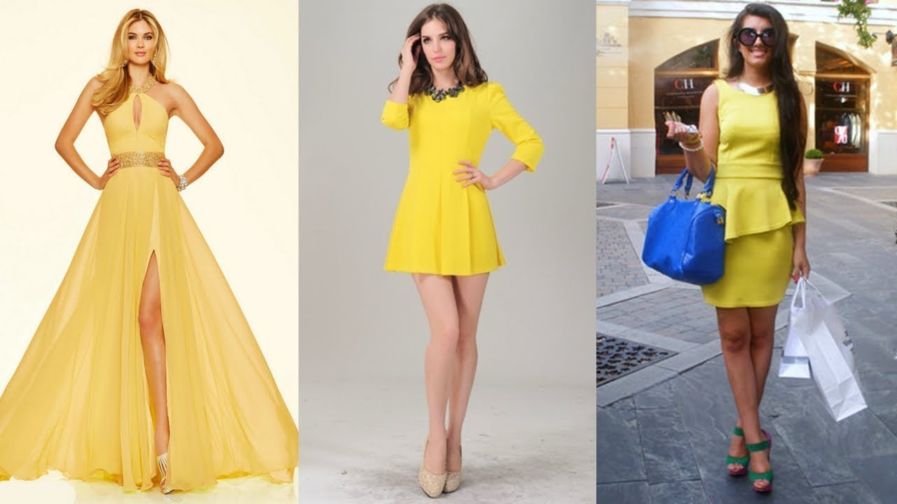 Vestido De Moda 2018 Color Amarillo