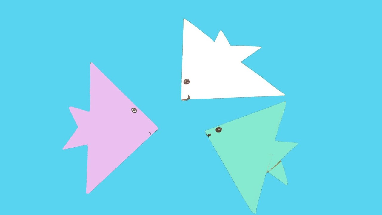 How to Make an Origami Fish Step by Step Instructions | Free ... | 720x1280