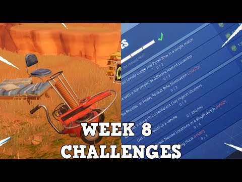 WEEK 8 CHALLENGES I ALL 7 CHALLENGES I Fortnite Season 6 Week 8 I Fortnite Battle Royale