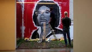 """Robinho Santana  - """"obrigado mãe"""" Mural."""