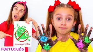 Lave Suas Mãos - Canções Infantis   Música sobre hábitos saudáveis por Sunny Kids Songs