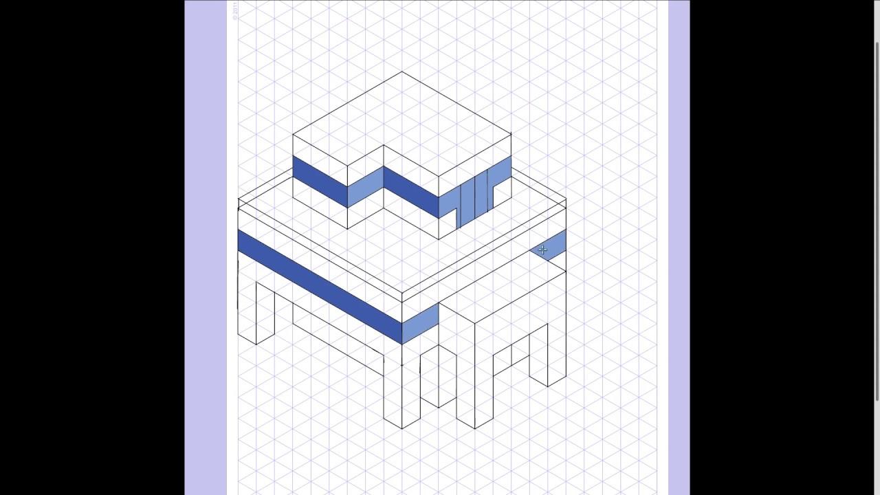 casa isométrica - YouTube