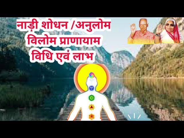 नाड़ी शोधन प्राणायाम विधि, लाभ एवं सावधानियां #MyLifeMyYoga Nadishodhan pranayam