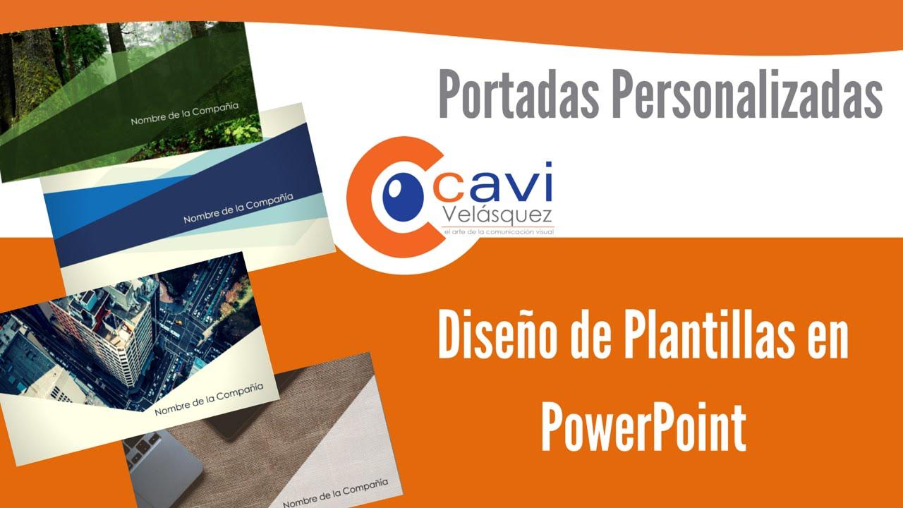 Diseño de Plantillas en PowerPoint I Portadas Personalizadas - YouTube