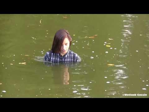 Eliska in the pond