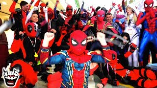 Spider-Man: SPIDER-VERSE Flash Mobs & Pranks at Comic Con IRL | Epic Compilation!!