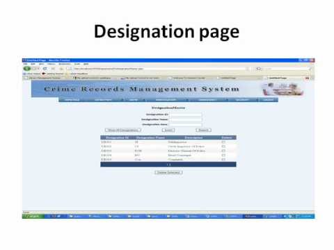 Crime File Management System Project In Vb Net Youtube