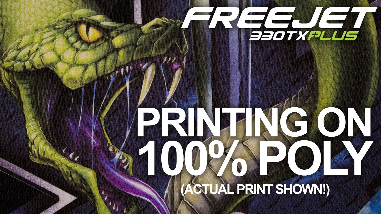 d7532717 Printing On 100% Black Polyester | FreeJet 330TX Plus DTG Printer. OmniPrint  International