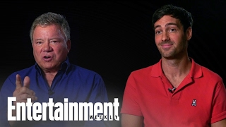 william shatner jeff dye talk george foreman in better late than never entertainment weekly