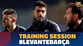 Last workout before the match against Levante