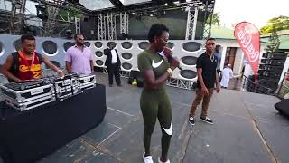 Dj Masha and MadamBoss Akothee at the NRGWAVE SoundCheck