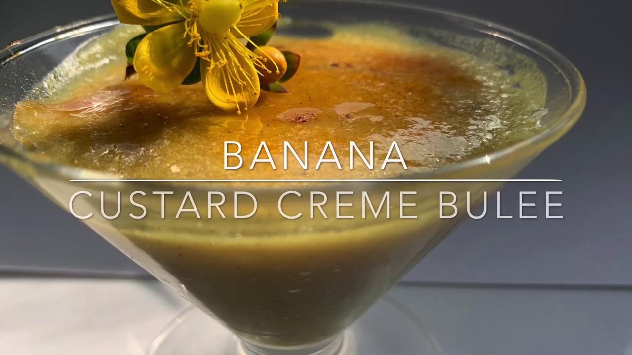 Vegan Banana Custard Creme Brulee