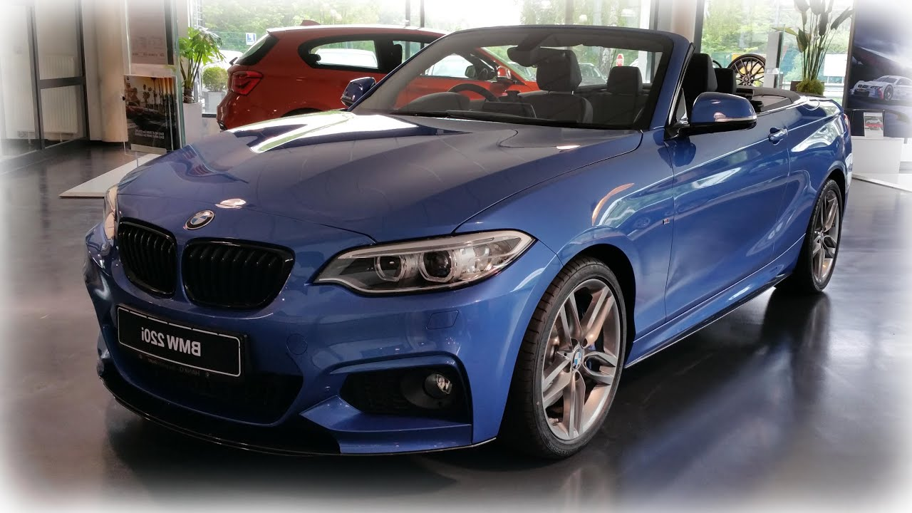 2015 bmw 220i cabrio modell m sport youtube. Black Bedroom Furniture Sets. Home Design Ideas