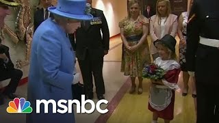 Girl Gives Queen Flowers, Gets Smacked | msnbc
