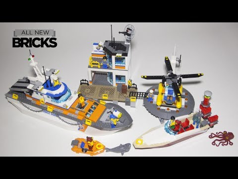Lego City 60167 Coast Guard Head Quarters Speed Build