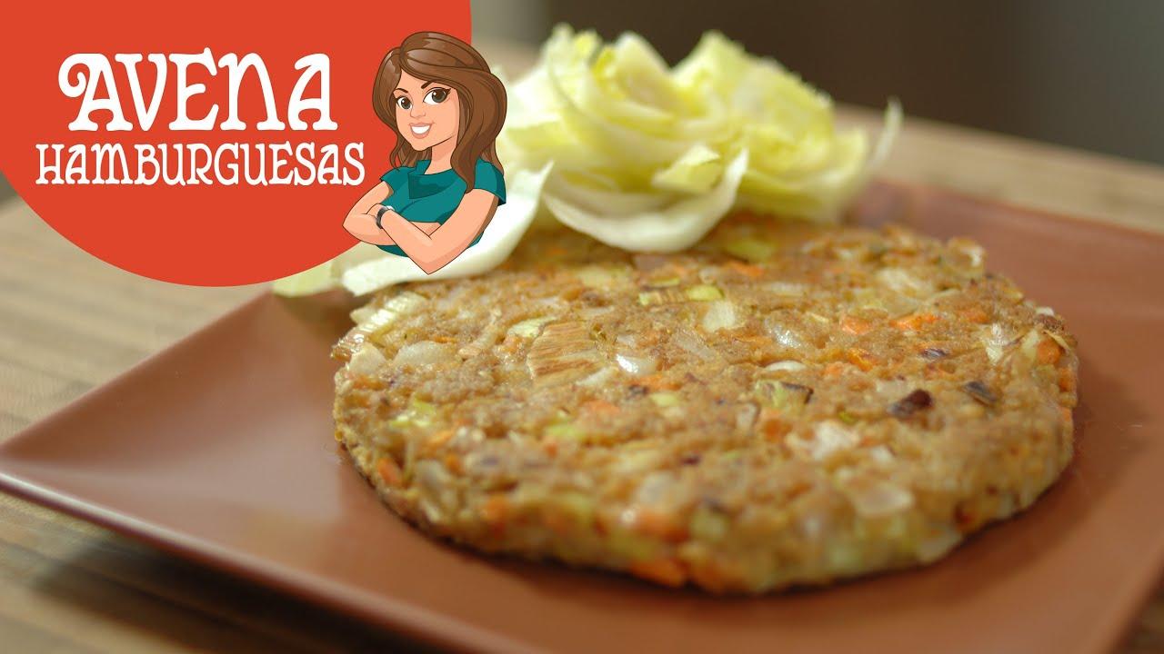 Hamburguesas vegetarianas de avena fitken youtube - Cocinar harina de avena ...