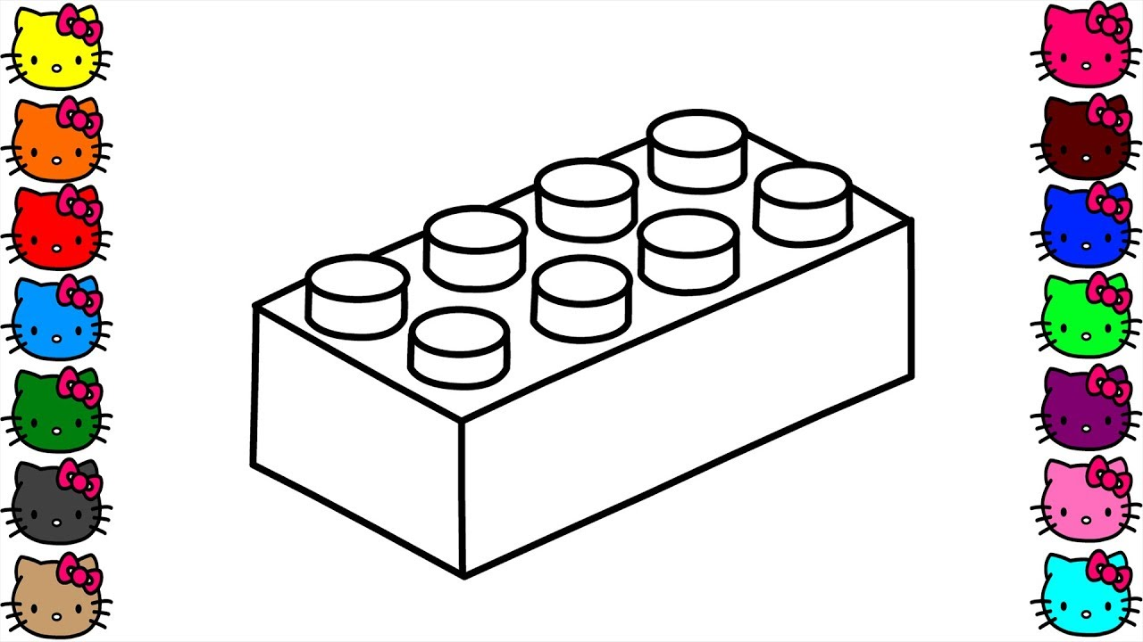 Lego Block Drawing And Coloring Pages For Kids Learn How To Draw