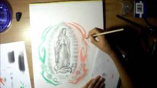 Drawing La Virgen De Guadalupe