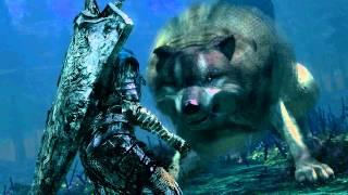 dark souls sif the great grey wolf remembrance cutscene