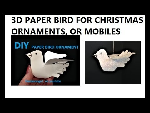 diy-PAPER BIRD CHRISTMAS ORNAMENT, paper crafts,