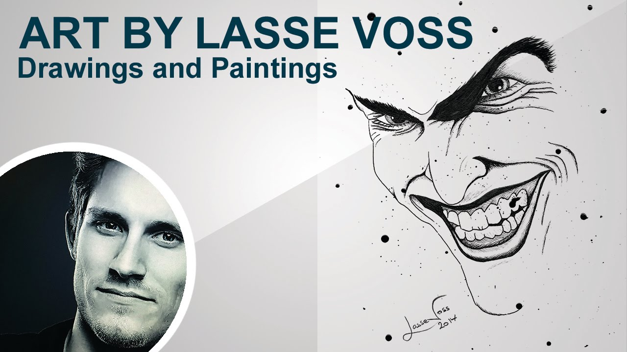 Art By Lasse Voss  How To Draw A Scary Joker Face