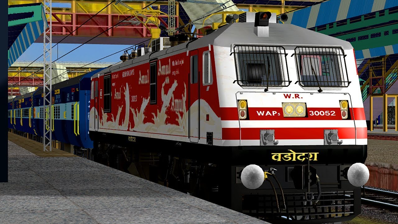 19217/Saurashtra Janta Express Departure From Borivali || MSTS In Open Rail