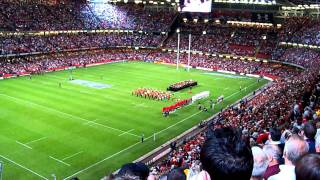 Wales Vs England - The Anthems, Millenium Stadium, Cardiff, 13.08.11