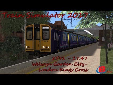 Train Simulator 2017: 2Y91 - 17:47 - Welwyn Garden City to London Kings Cross