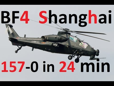 BF4 157-0 in 24 min.! | Attack Heli Massacre - Z-10W on Shanghai | Pro Gameplay by Bankskuuu