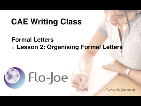 How to write an application letter cae