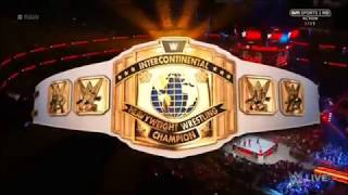 Dean Ambrose vs The Miz intercontinental champion match 15 may at RAW 2017