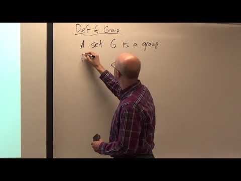 Abstract Algebra, Lecture 5A, Group Theory Definitions, Basic Facts, Notation