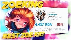 THIS #1 KOREAN ZOE IS A FREAK! *1000LP with a 64% WIN RATE*