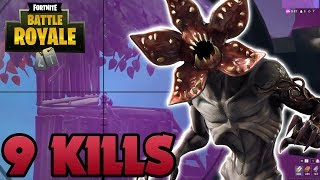 GANO CON LA NUEVA SKIN *DEMOGORGON* EN FORTNITE *9 KILLS*