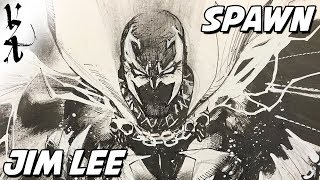 Jim Lee drawing Spawn