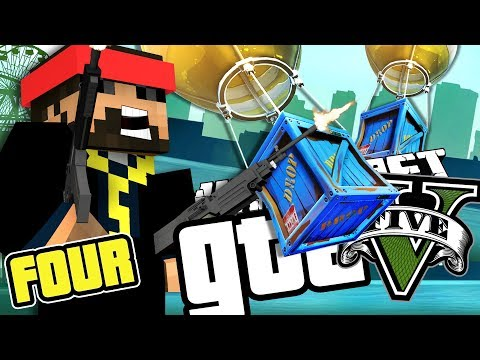 Minecraft GTA 5: CARE PACKAGE DROPS!! [4]