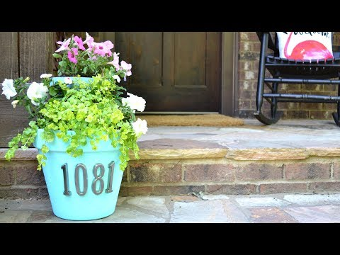 DIY House Number Planter   Southern Living