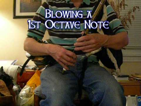Blowing the Uilleann Pipe -- a 1st Lesson