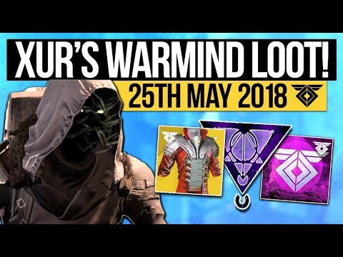Destiny 2   XUR LOCATION & WARMIND EXOTICS! - Exotic Weapon, Armor Inventory & More! (25th May)