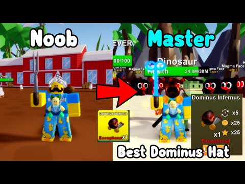 Buying The Best Dominus Hat For Billion Coins! Noob To Master In Sizzling Simulator Roblox