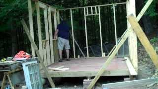 Erecting A 2x4 Pressure Treated Wall For A Shed