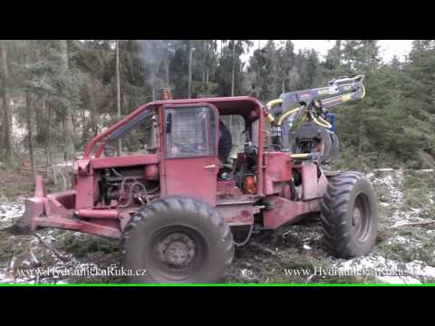 FARMA 6,3 meters long crane mounted to the skidder