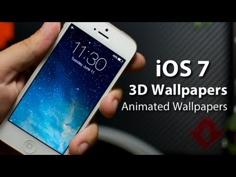 iOS 7 - 3D Panoramic & Animated Wallpapers On iPhone 5 (Parallax Effect)