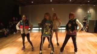 2NE1 I AM THE BEST Choreography Practice Uncut Ver