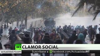 Policía dispersa a manifestantes en Chile, las protestas cumplen 100 días